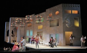 Scene from SF Opera's production of THE BARBER OF SEVILLE.