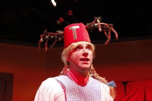 Tony Houck in She-Rantulas from Outer Space-in3D! at Diversionary Theatre.