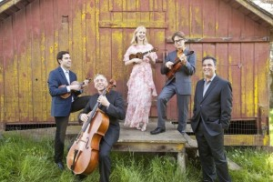 Turtle_Island_Quartet_w_Nellie_McKay_-_photographer_Bill_Reitzel_