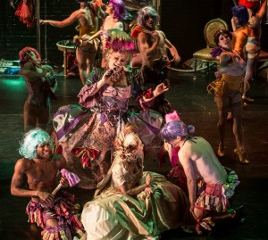 Shelly Watson as Madame Drosselmeyer (singing in center) and cast members of Nutcracker Rouge Photographer: Robert Zash