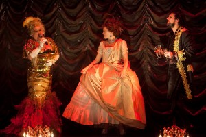 Shelly Watson as Madame Drosselmeyer, Laura Careless as Marie-Claire and Jeff Takacs as Monsieur Drosselmeyer in Nutcracker Rouge Photographer: Phillip Van Nostrand