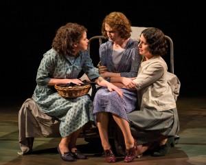 Abby Wilde, Carmela Corbett and Kalen Harriman in Sebastian Barry's THE STEWARD OF CHRISTENDOM at the Mark Taper Forum.
