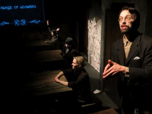 Cody Proctor, Katherine Keberlein, Eli Branson and Stephanie Polt in Oracle's THE MOTHER. Photo by Ben Fuchsen.
