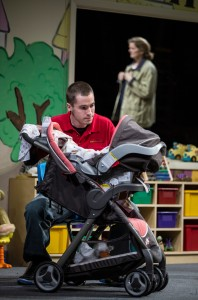 Colin Sphar (Peter) and Jordan Baker (Cindy) in Goodman Theatre's world-premiere production of LUNA GALE.