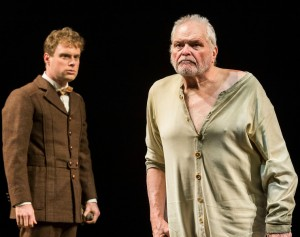 Dylan Saunders and Brian Dennehy in Sebastian Barry's THE STEWARD OF CHRISTENDOM at the Mark Taper Forum.