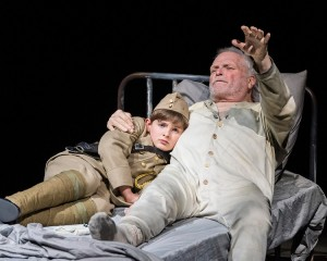 Grant Palmer and Brian Dennehy in Sebastian Barry's THE STEWARD OF CHRISTENDOM at the Mark Taper Forum.