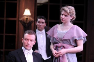 Greg Matthew Anderson, Luke Daigle and Isabel Ellison in Remy Bumppo's AN INSPECTOR CALLS.