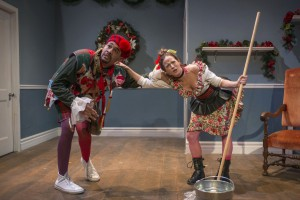Eric Lynch and Ashley Neal in Christmas is Made for Fools by Lisa Dillman, directed by Adrianne Cury, part of Step Up Productions' HoliDaze.