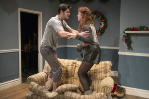 Connor McNamara and Elizabeth Antonucci in The Intruder by Joshua Rollins, directed by Laura Hooper, part of Step Up Productions' HoliDaze.