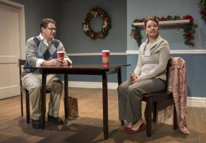 Andy Luther and Amanda Powell in The Space Behind Your Heart by Steve Simoncic, directed by Vincent Teninty, part of Step Up Productions' HoliDaze.