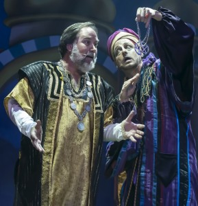 Richard Karn and Josh Adamson in ALADDIN AND HIS WINTER WISH at The Pasadena Playhouse.