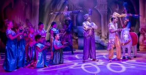 Ben Vereen, Jordan Fisher and ensemble in ALADDIN AND HIS WINTER WISH at The Pasadena Playhouse.