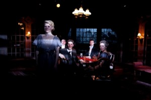 Isabel Ellison, Roderick Peeples, Luke Daigle, Greg Matthew Anderson and Lia Mortensen in Remy Bumppo's AN INSPECTOR CALLS.