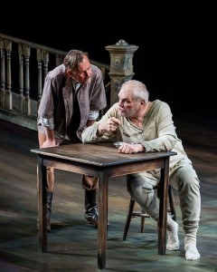 James Lancaster and Brian Dennehy in Sebastian Barry's THE STEWARD OF CHRISTENDOM at the Mark Taper Forum.