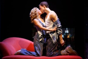 Katie Postotnik and Steven Grant Douglas in GHOST THE MUSICAL on tour.