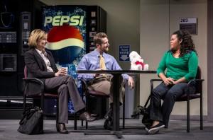 Mary Beth Fisher (Caroline) Erik Hellman (Cliff), and Melissa DuPrey (Lourdes) in Goodman Theatre's world-premiere production of LUNA GALE.