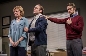 Mary Beth Fisher (Caroline), Richard Thieriot (Pastor Jay), and Erik Hellman (Cliff) in Goodman Theatre's world-premiere production of LUNA GALE.
