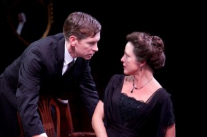 Nick Sandys and Lia Mortensen in Remy Bumppo's AN INSPECTOR CALLS.