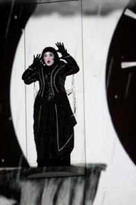 Pamina (Janai Brugger) contemplates taking her own life in in THE MAGIC FLUTE, 1927 at LA Opera.