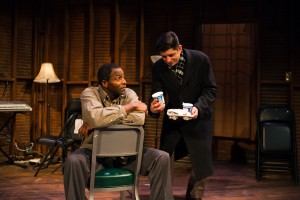 Pastor Chester ( Carl Lumbly) and Burough President (Gabriel Marin) have a fateful meeting over church vs. mortgage.