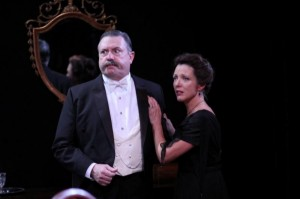 Roderick Peeples and Lia Mortensen in Remy Bumppo's AN INSPECTOR CALLS.