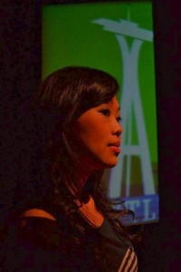 Sandy Yu in 'Dallas Non-Stop,' a Playwrights' Arena production at Atwater Village Theatre.