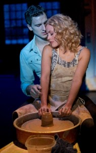 Steven Grant Douglas  and Katie Postotnik in GHOST THE MUSICAL on tour.