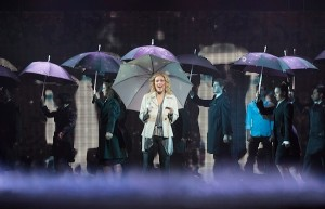 The cast of GHOST THE MUSICAL on tour.
