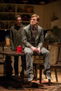 (left to right) Daniel (Steve Haggard) and Billy (John McGinty) in Steppenwolf Theatre Company's Chicago-premiere production of Tribes by Nina Raine, directed by ensemble member Austin Pendleton.