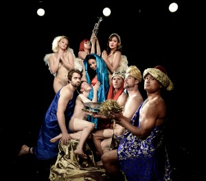 """Naked Nativity"" from NAKED HOLIDAYS, Off-Broadway at the Cutting Room"