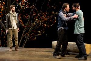Gene Gallerano (Peter), Brian McManamon (Les Ellis) and Brian P. Murphy (Chris Ellis) in The Clearing.