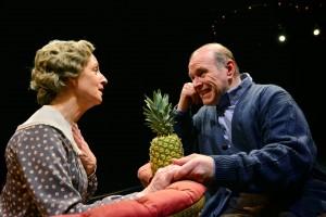 "Annabel Armour as ""Fraulein Schneider"" and Craig Spidle as ""Herr Shultz"" star in Cabaret at  the Marriott Theatre."