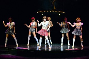 """Megan Sikora and Cast in """"Don't Tell Mama"""" in Cabaret at  the Marriott Theatre."""