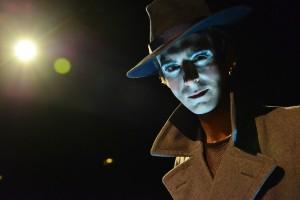 "Stephen Schellhardt stars as ""Emcee"" in Cabaret at  the Marriott Theatre."