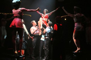 """Megan Sikora and Cast in """"Mein Herr"""" in Cabaret at  the Marriott Theatre."""