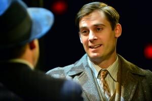 Patrick Sarb as Cliff in Cabaret at  the Marriott Theatre.