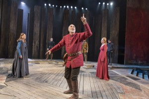 Catherine McCormack, Frank Langella and Lauren O'Neil in KING LEAR at BAM.