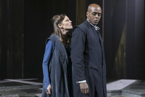 CATHERINE McCORMACK & CHU OMAMBALA in KING LEAR By William Shakespeare Chichester Festival Theatre at BAM