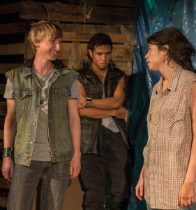 Danny Luwe, Kevin Matthew Reyes and Sarah Price in SOLSTICE at A Red Orchid Theatre