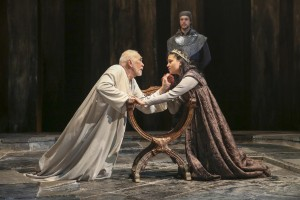 Frank Langella and Isabella Laughland in KING LEAR at BAM.