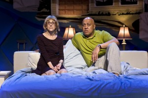 "Laura Esterman and Keith Randolph Smith in The New Group's production of ""Intimacy."""