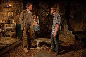 Lawrence Grimm, Meighan Gerachis and Andrew Cutler in SOLSTICE at A Red Orchid Theatre