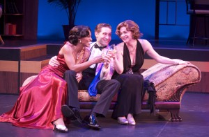 "Jennifer Shelton, Marc Ginsburg and Lindsey Alley in International City Theatre's production of ""Let's Misbehave."""