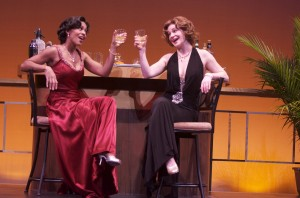 "Jennifer Shelton and Lindsey Alley in International City Theatre's production of ""Let's Misbehave."""
