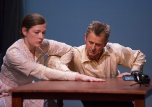 "Tymberly Canale and Mikhail Baryshnikov in ""Man in a Case."""