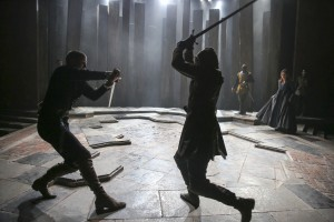 Max Bennett and Sebastian Armesto in KING LEAR at BAM.