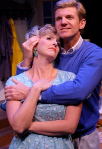 Nancy Snow Carr & Brent Schindele in Lamb's Players production of THE FOREIGNER.