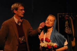 Bill Brochtrup and Dorie Barton in Sarah Ruhl's PASSION PLAY at the Odyssey Theatre. Photo by Enci.