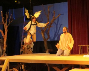 Tobias Baker and John Charles Meyer in Sarah Ruhl's PASSION PLAY at the Odyssey Theatre. Photo by Michael Gend.