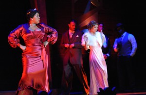 "Scene from Long Beach Opera's ""Queenie Pie."""